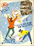 ABLERTRADE Visit The URSS in Winter Russia Vintage Russian Travel Art Poster Targa in Metallo, 20,3 x 30,5 cm