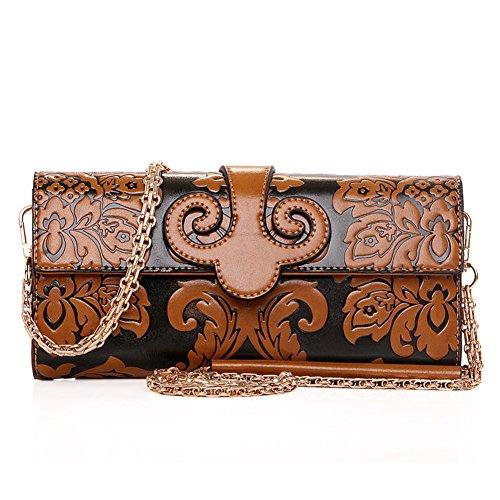 Ms. frizione/wallet Ms./portafoglio lungo di moda casual in stile cinese in rilievo-C D