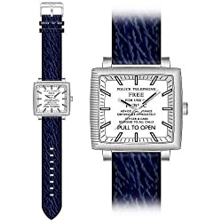 DR WHO TARDIS COLLECTORS WATCH DR173 NAVY STRAP