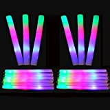 Beetest 50 piezas LED colorido concierto Club fiesta alegría esponja Glowsticks Glow Sticks