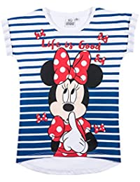 Disney Minnie Mädchen T-Shirt - weiß