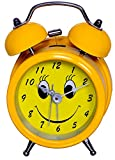 #7: Purpledip Children's Table Alarm Clock with Ringing Bell: Small Portable Size, Yellow Color (10341)