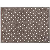 Lorena Canals A-G DOT-DGN Dots Dark Grey/Nude Grigio, 140 x 200 cm