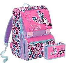 26f9c70c03 Seven Zaino Scuola estensibile Disney Minnie Jewel + Astuccio 3 Zip pieno  schoolpack