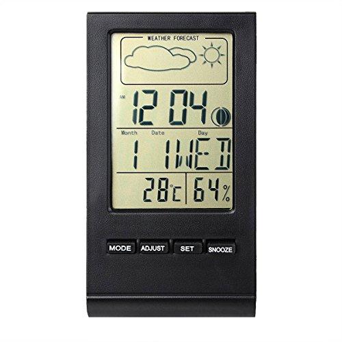 IDEALEBEN Stazione meteo con previsioni di situazione meteo, termometro e