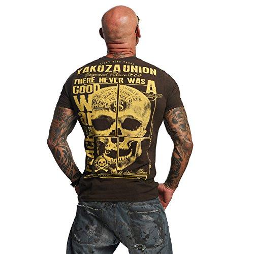 Yakuza Original Herren 893 Union T-Shirt Coffee Bean