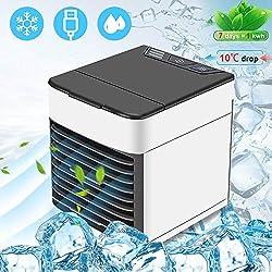 Tobbiheim 4 in1 Mobile Klimaanlage, Mini Luftkühler, Air Cooler, Luftreiniger, leiser Tischventilator, Nachtlicht, Persönliche Klimageräte sehr geeignet für Büro, Camping, zu Hause