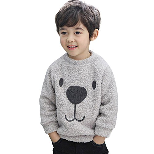 Hawkimin_Babybekleidung Hawkimin Dicker Pullover Mantel Cartoon Bär Kinder Baby Infant Warm Fleece Bluse T-Shirt