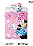 2 tlg Kinderbettwäsche 100x135 40x60 Disney 898 Minnie Mouse