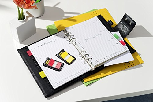 Post-it Index (1x 22Tiras Adhesivas En Dispensador, 25,4x 43,2mm), color limonengrün