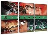 Ultras Hannover Collage, 3-Teiler Format: 120x80, Bild auf