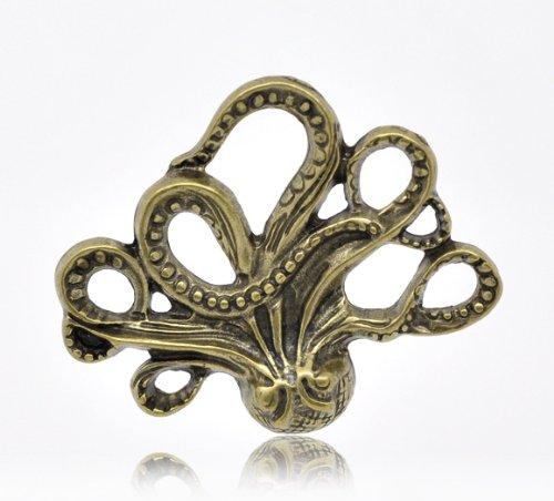 1 Pendentif en bronze poulpe x 43 x 35 mm