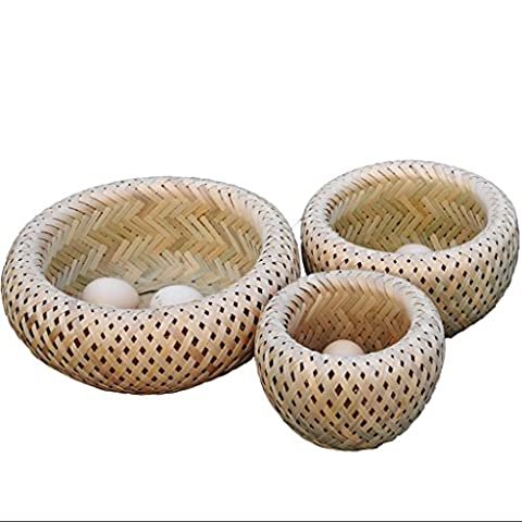 MOXIN Fruit Plate - Bamboo Basket Bread Basket Kitchen Dining