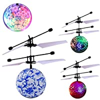 Aircraft + Charge cable, Honestyi RC Flying Ball Drone Helicopter Ball Built-in Shinning LED Lighting for Kids Toy