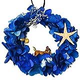 A-szcxtop preserved de guirnalda de flores frescas con cervatillo y cinta coche colgante colgante decoración del hogar y gran regalo creativo corona
