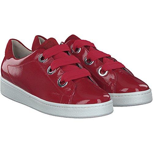 Paul Green 4539-192 Damen Sneaker aus filigranem Lackleder flexible Laufsohle, Groesse 4 1/2, rot