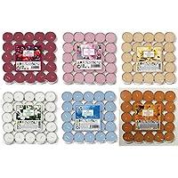 Prices - Velas de té perfumadas (150 Unidades, 25 x 6 Aromas), diseño de Flores de algodón, Bayas Mixtas, cítricos, Rosa, Lavanda y Vainilla, Mixto, Pack of 150
