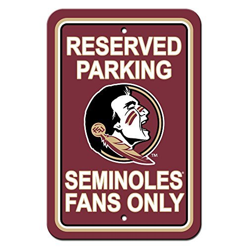 NCAA Florida State Seminoles Plastic Parking Sign, 12 x 18-Inch, Team Color by Fremont Die
