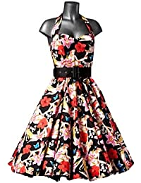 Hell Bunny Kleid HAWAI 50'S DRESS black/multi