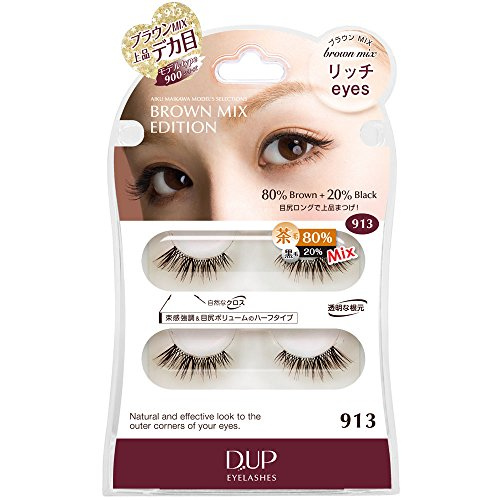 D.U.P Eyelashes Brown mix 913 [Badartikel]