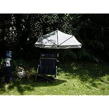 Sol Protección hollymac–Portátil de Playa de viaje exterior Juego de silla plegable de D. Azul + Holly Compartimiento pantalla natural–Aprox. 3.9kilos + Holly® 360° universalgelenkh Projector GVC–25euros–Protección de goma con tapas–Innovaciones fabricado en Alemania–Productos Holly® Stabielo–para fijaciones de diámetro de 35–55–60mm Multi Soporte stgvc 5530en el precio de 10euros de