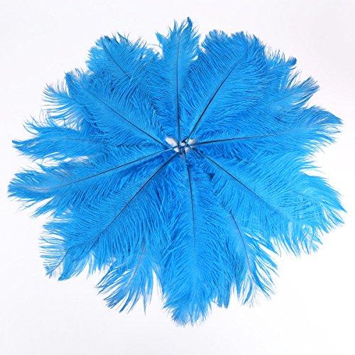 20 Stk. Straußenfeder Strauß Feder 25-30cm Blau Hochzeit Party Fest Kostüm Deko Sexy