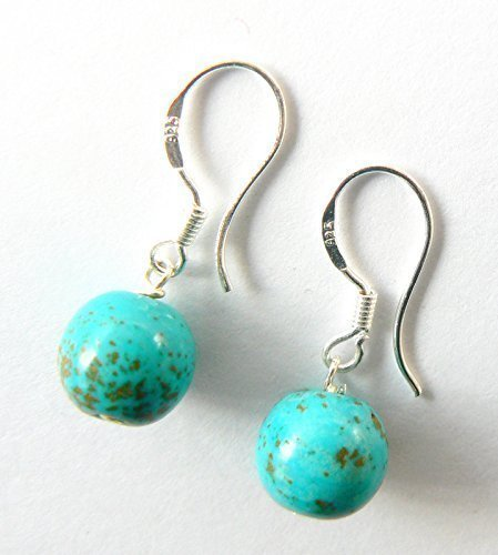 SALE. Turquoise and Sterling Silver Drop Earrings, Gifts for Her