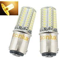 Bonlux 1157 ba15d led 12 v auto luce 3 watt rivestito di silicone auto Led auto lampadina 10-18 v 3014smd coda del segnale di girata della lampada della luce dell'automobile