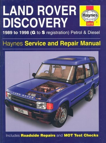 Land Rover Discovery 1989 to 1998 (G to S registration) Petrol & Diesel Service & Repair Manual by Rendle, Steve, Coombs, Mark, Jex, R. M. (1995) Hardcover