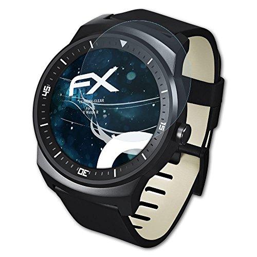 atFoliX Anti-Shock Pellicola protettiva compatibile con LG G Watch R Pellicola Proteggi, ultra chiara e che assorbe gli urti FX...