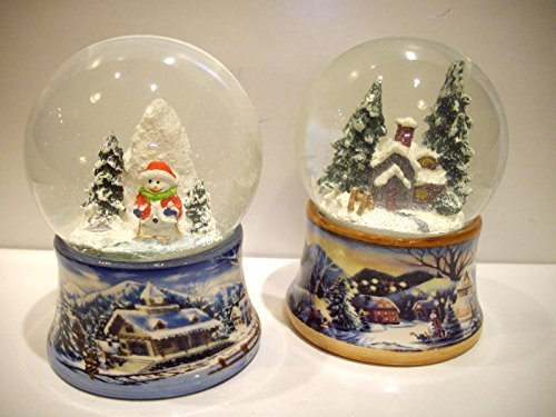 BABBO NATALE PALLA NEVE BASE PORCELLANA ADDOBBI DECORAZIONI REGALO STOCK