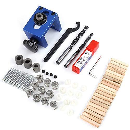 Fdit Kit de carpintería, DE Bolsillo para, 8/15 mm perforación Kit de punzón Ajustable para Estructura de Madera punzón para perforación guía Locator Tool para, hazlo tú Mismo
