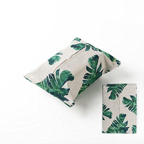 TISZJHU Baumwolle Leinen Tissue Boxen Tuch Oberfläche Papier Servietten Taschen Pumpen Warenkorb Startseite Auto Shading Papierhandtücher Sets, 7