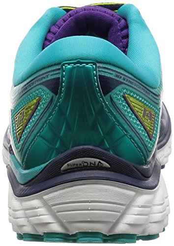 Brooks Glycerin 14, Chaussures de Course Femme, Aubergine Multicolore (Pansy/ceramic/lime Punch)