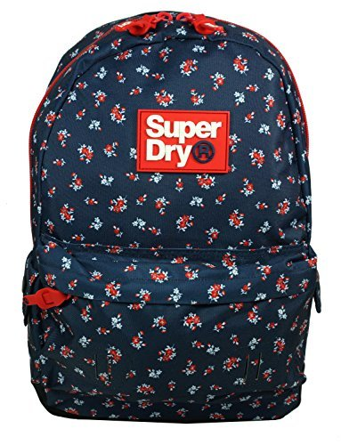 Superdry Helena Floral Montana Rucksack - Navy/Red/ Ditsy One Size (Print Top Ditsy)