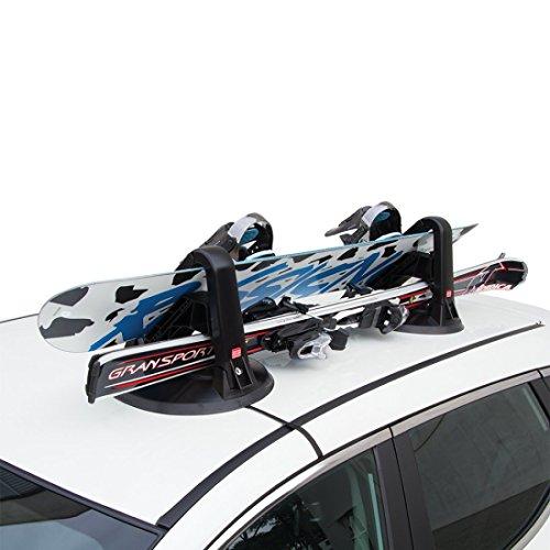 Forge 6940003 Kolumbus Support pour skis et portasnowboard magnétique avec double antivol noir