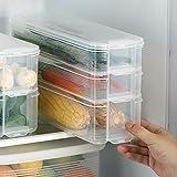 Taylor & Brown 3 lager plast kylskåp frys förvaringsbox behållare behållare kök skåp organiserare stapelbara lådor med lock u