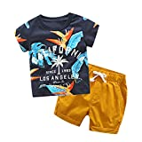 Berimaterry Counjunto de Ropa Bebé Niño Verano 2pc Pijamas de Dormir Estampado de Dinosaurio el Verano Tops Los PantalonesTrajes Conjunto de Ropa para Bebés Niños 1-7 años Pijama niños Pequeños
