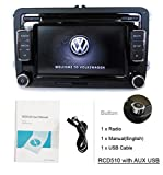 SODA OEM Volkswagen RCD510 KFZ Stereo Radio 6 CD USB AUX SD MP3 Player iPod FM/AM für VW Golf Passat Polo GTI Caddy Sharan Scirocco CC Eos Jetta