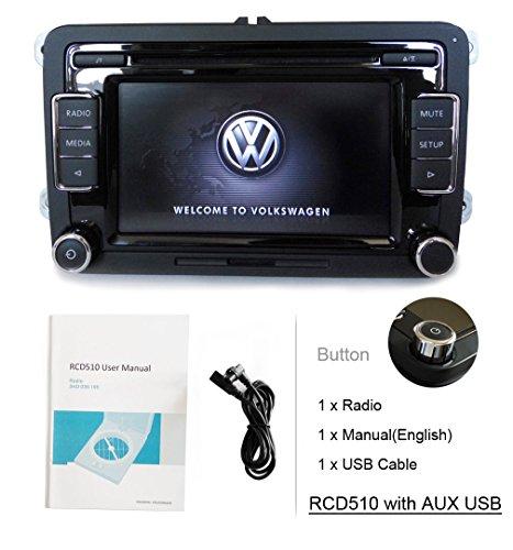 eoda voiture 6 Lecteur CD USB SD AUX MP3 iPod Radio stéréo FM/AM pour VW Golf Passat Polo GTI Caddy SHARAN CC Scirocco EOS Jetta