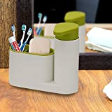SINKBASE SINK TIDY SET, WHITE/GREEN, 2-PIECE BY SIDDHI COLLECTION