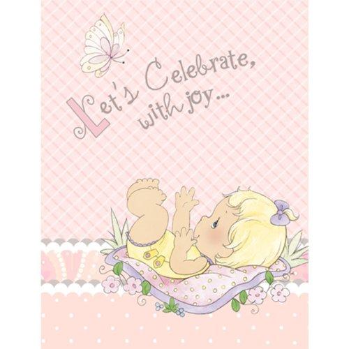 ments Baby Girl Einladungen Party Zubehör ()