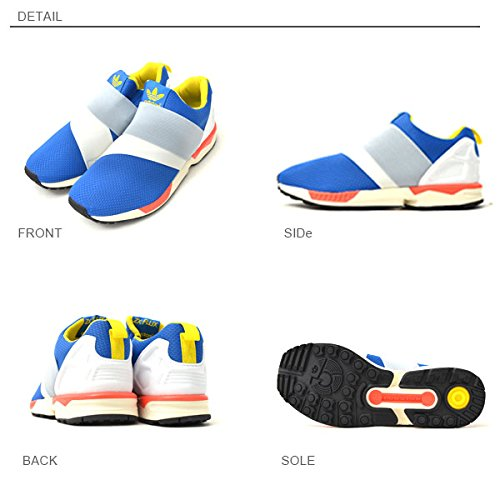Adidas ZX Flux Slip On, semi solar yellow-hi-res red-bold onix Rouge