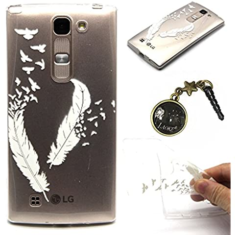 Custodia in silicone e TPU Custodia Painted PC Case Cover Custodia Caso per pelle Shell coperture per Smartphone (LG Spirit 4G LTE H440N 3G H420H422(4.7inch) + spina antipolvere