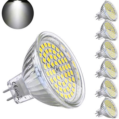 Bombilla LED GU5.3 MR16 12V 5W Blanco Frio Equivalente a Halogeno 35W...