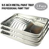 KingOrigin Mehrzweck-Metall-Farbtablett für Farbroller, für Farbroller, für Malpinsel, für Malpinsel, Heimwerkerwerkzeug, Werkzeugset, Handwerkzeug, Werkzeug-Sets