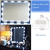 Mirror LED Light Hollywood Style Makeup Mirror Light Kit Dressing Table Light with Power Adapter and Dimmer(30 LEDs, 2m)