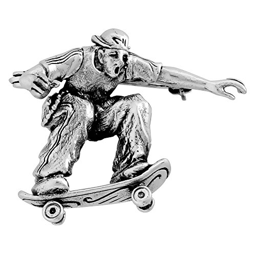 revoni-sterling-silver-skateboarder-sidewalk-surfer-brooch-pin-1-1-8-29mm-tall
