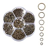 Bronce tono abierto Jump anillo para DIY arcilla Jewelry Making conclusiones