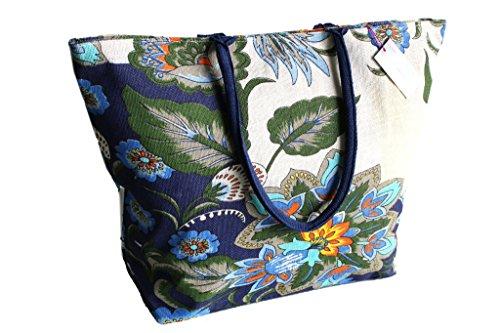 Borsa mare Gian Marco Venturi mod.grande l.fiori moda mare 44370 blu